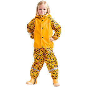 DIDRIKSONS Slaskeman 4 Rain Set Kids, citrus yellow dots